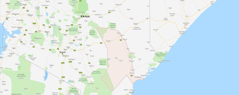 localisation de ethnie Pokomo