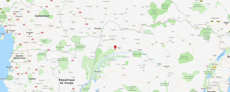 localisation de ethnie Ngbaka / Bwaka