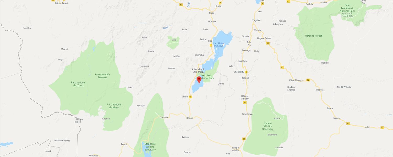 localisation de ethnie Konso