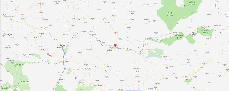 localisation de ethnie Banda / Langbase