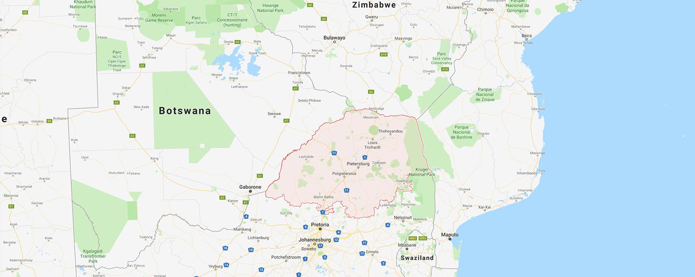 localisation de ethnie Tsonga