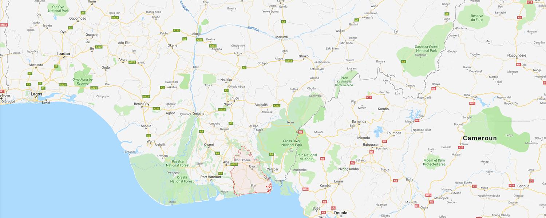 localisation de ethnie Ibibio