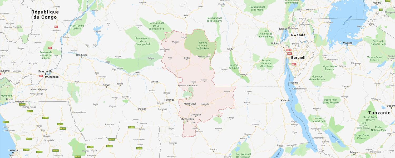 localisation de ethnie Tetela