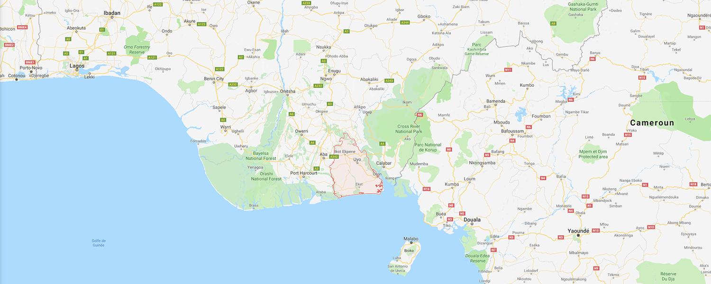 localisation de ethnie Eket