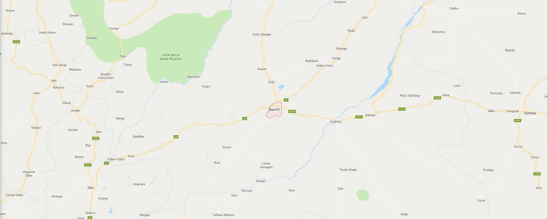 localisation de ethnie Bassangue / Bassa Nge