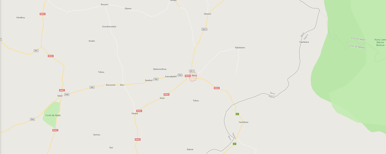 localisation de ethnie Bariba