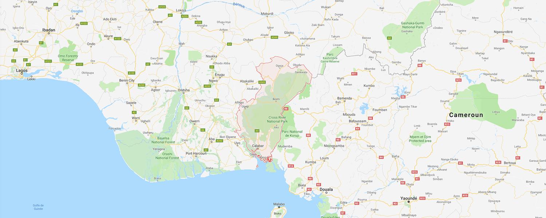 localisation de ethnie Ekoi / Ejagham