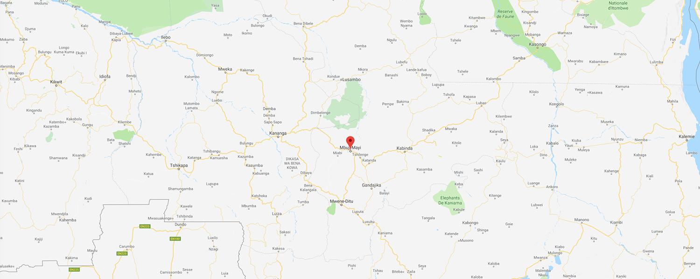 localisation de ethnie Kaniok / Bena Kanioka