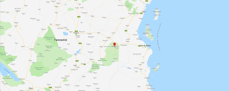 localisation de ethnie Luguru