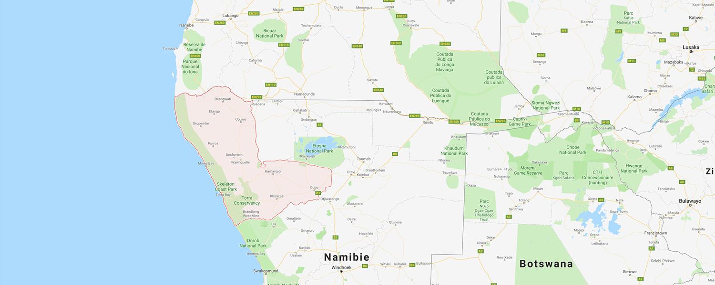localisation de ethnie Himba