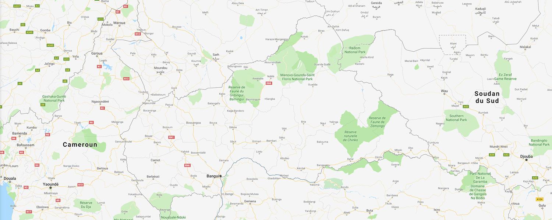 localisation de ethnie Gbaya
