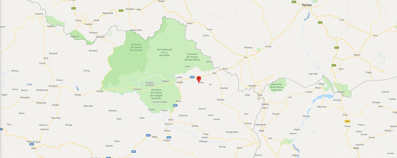 localisation de ethnie Bandia / Bandiyas