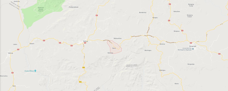 localisation de ethnie Bana - Cameroun