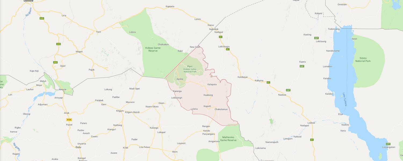 localisation de ethnie Dodoth