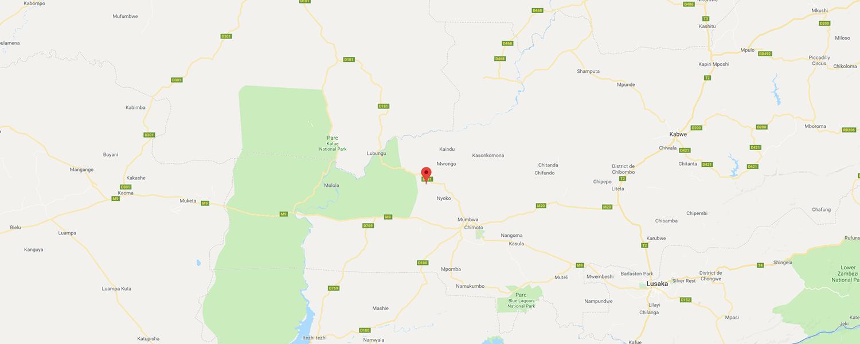 localisation de ethnie Lwena / Luvale