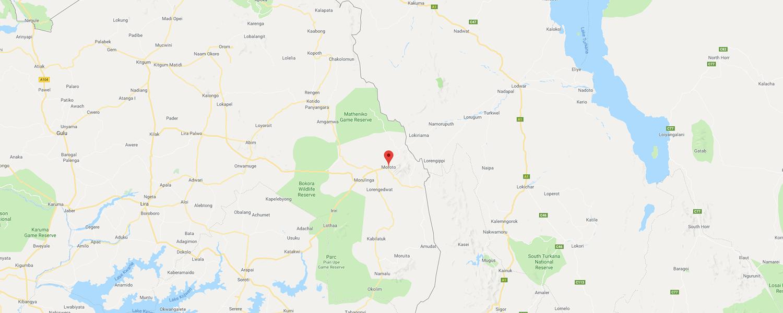 localisation de ethnie Karamojong
